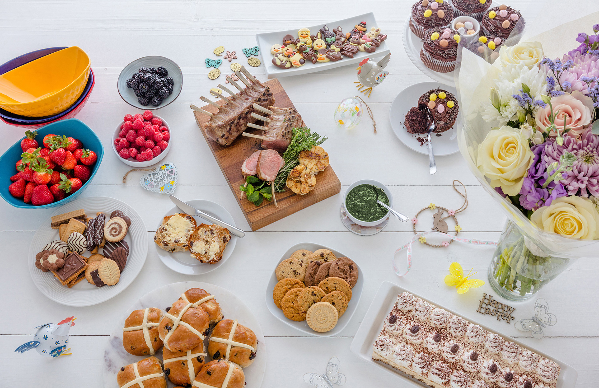 Easter Flatlay - Jon Kempner Food Photgraphy