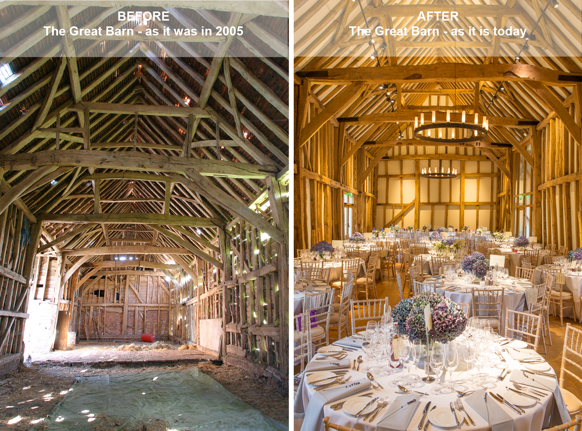 Great Barn, Micklefidl Hall, Before & After | Jon Kempner Photography